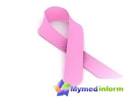 rosa bånd - det internasjonale symbolet som brukes av organisasjoner og enkeltpersoner som støtter programmet for kampen mot brystkreft