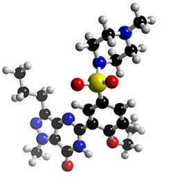 Model Viagra molecule