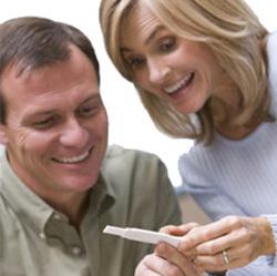 Paret og graviditetstest