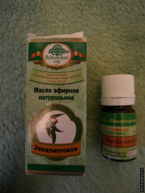 Het gebruik van tincturen en oliën van eucalyptus