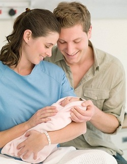 Parents with newborn