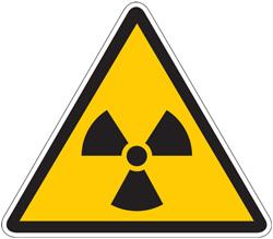 Опрез знак зрачење