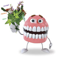 Ein Lächeln geht alles ... jeder gesunde Zähne und Zahnfleisch