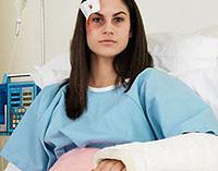 Verletzungen und Prellungen