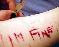 La autolesión en adolescentes