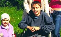 physische Rehabilitation als eine Behandlung für Kinder mit zerebraler