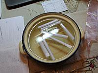tradicional vinagre de la medicina de los espolones del talón