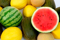 hvordan du velger en vannmelon eller honningmelon