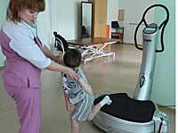 The latest techniques of rehabilitation of patients with cerebral palsy simulator power plate