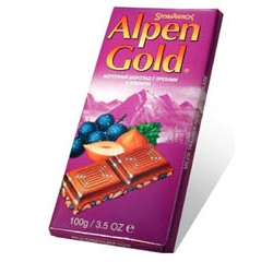 Alpen chocolate del oro