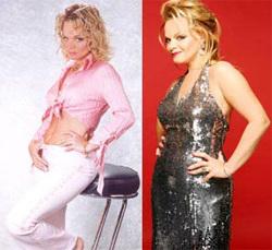 Larisa Dolina à dieta (à direita) e depois (à esquerda)