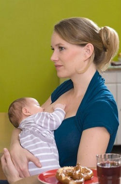 Feeding lactating mother, diet