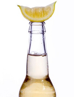 Carbonated drinks contain acids, usually citric or phosphoric