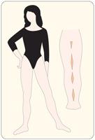 Schöne Beine: weibliche Geheimnisse