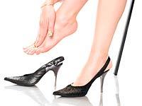 Begrenzung der Belastung des Fußes bei Arthrose der Zehen