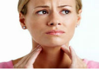 sore throat or disease affecting the upper respiratory tract