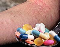 Drogenallergie. Symptome und Behandlung